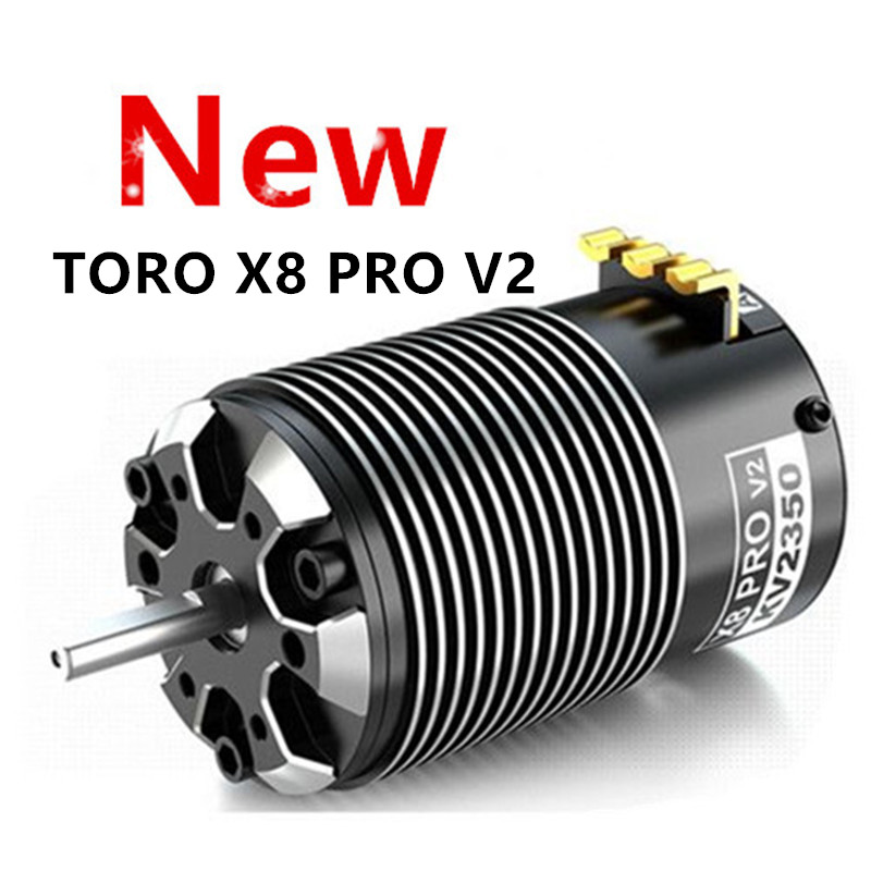 Nowy SKYRC TORO X8 PRO V2 2150KV 2350KV bezszczotkowy silnik do 1:8 RC samochody Buggy zaktualizowana wersja X8 Pro regulowany czas w Części i akcesoria od Zabawki i hobby na  Grupa 1