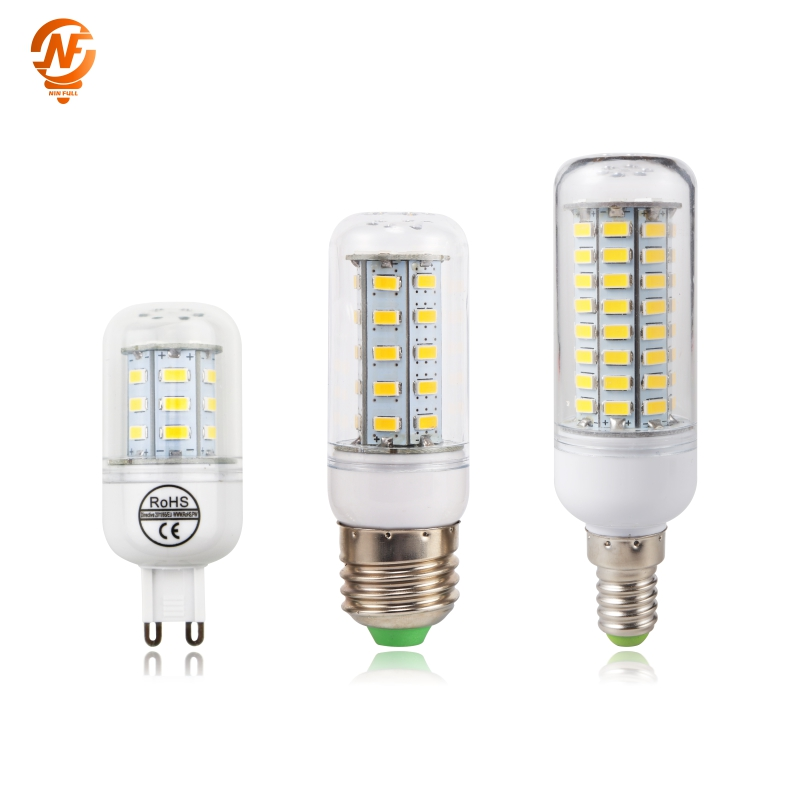 LED Bulb E27 E14 220V SMD 5730 LED Light G9 24 36 48 56 69 72 LEDs Corn Bulb Chandelier For Home Lighting LED Lamp