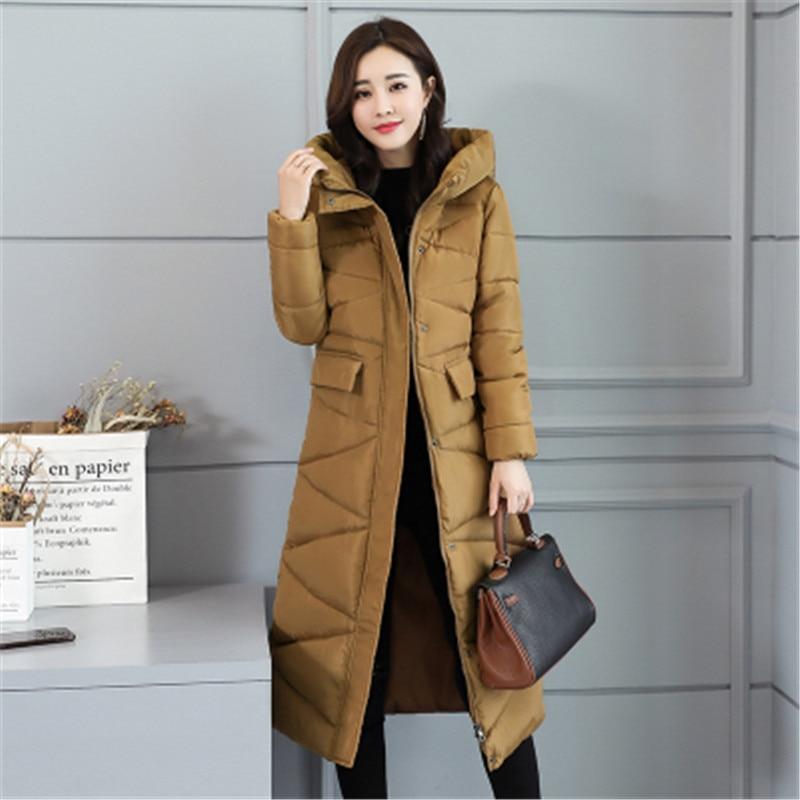 2019 Frauen Parkas Winter Weibliche Warme Verdicken Mittleren-lange Dünne Mit Kapuze Jacken Mantel Outwear Parkas Mantel S-xxl Direktverkaufspreis