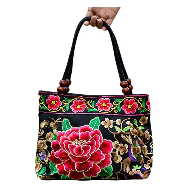Afbc Ethnic Bags Style Embroidery Flowers National Chinese Handbags yb76Ygfv