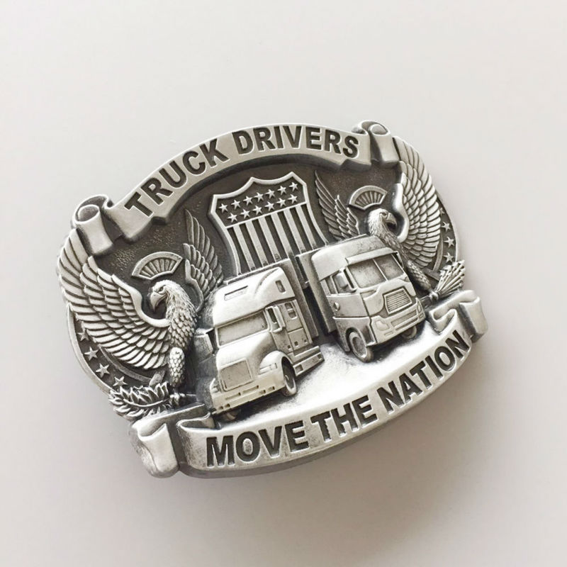Distribute Belt Buckle Original Truck Driver Belt Buckle Free Shipping 6pcs Per Lot Mix Style is Ok