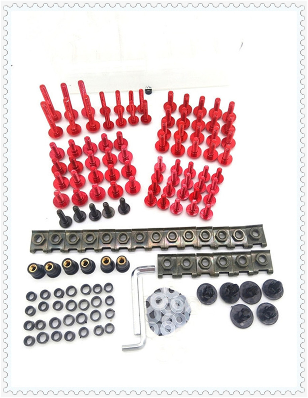 Motorcycle parts fairing windshield body bolt nut fastening kit for Aprilia MANA MODEL RST1000 FUTURA RSV MILLE R image