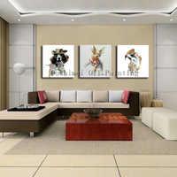 Cuchillo pintado a mano abstracto animales ciervos cuadros lienzo arte moderno pintura perro divertido pared imagen Decoración Para sala de estar artesanía