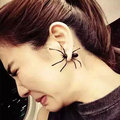 High-quality Insect black spider charms friendship assessories small design gift bijuterias trendy stud earrings ear piercing