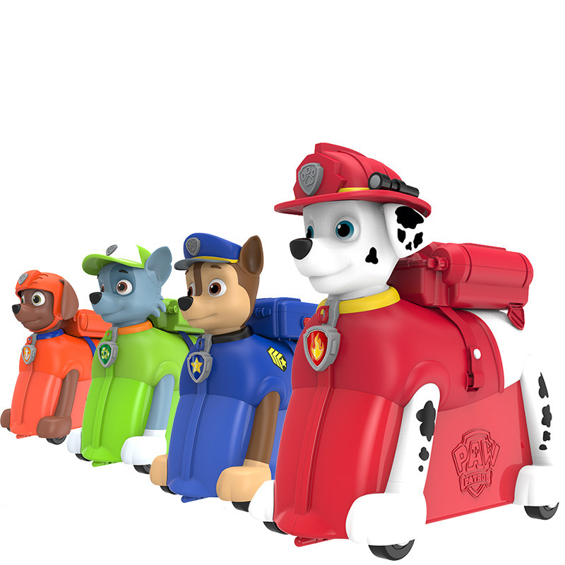 Paw patrol dog riding box The trunk can sit and drag kids Suitcase knapsack backpack cha ...