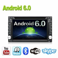 Car Electronics Android 6.0 2 din Universal Car DVD Video Multimedia Player GPS Navigation Audio Radio Stereo, Bluetooth,SWC TV