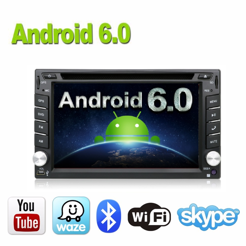 imágenes para Car Electronics Android 6.0 2 din Universal de DVD Del Coche de Vídeo Reproductor Multimedia de Navegación GPS de Audio Estéreo de Radio, Bluetooth, SWC TV