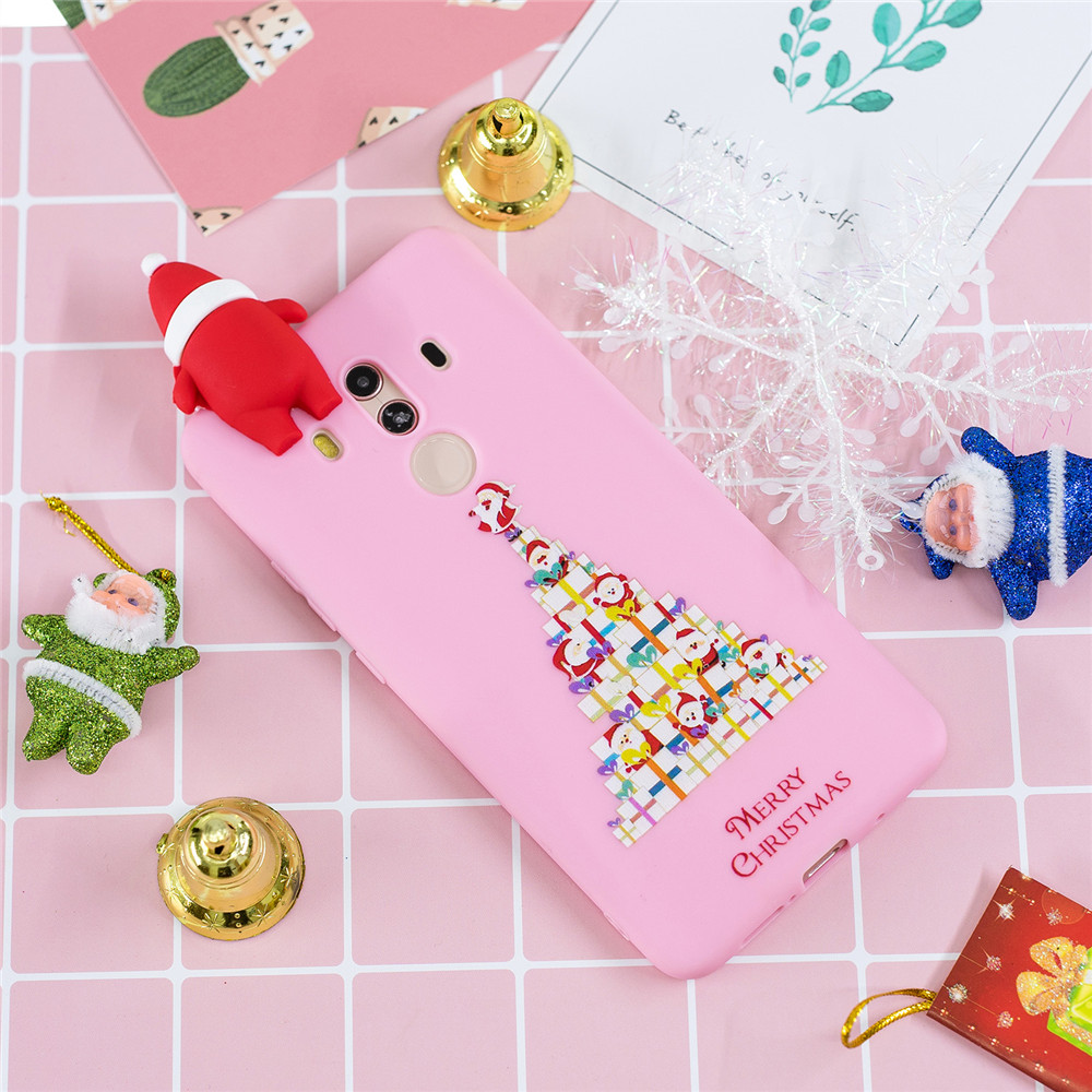 For Huawei Mate 10 Lite Case Lovely Santa Claus Cartoon Christmas Snowman Soft Phone Cases For Huawei Mate 10Pro 10 Case