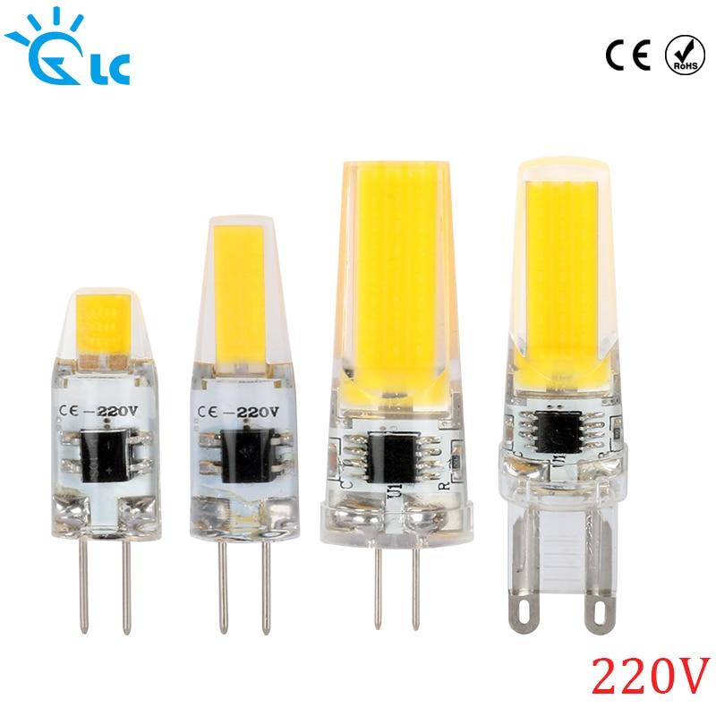 Led g9 g4 cob smd 220v 230v 240v lamp dimmable bulb for - Bombillas g9 led ...