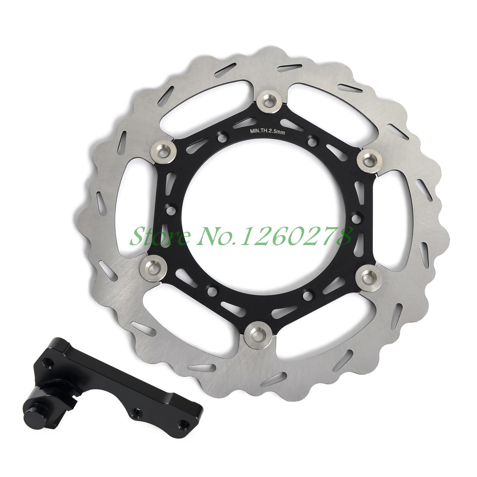 270mm Oversize MX Brake Disc Bracket Kit for Yamaha YZ125 YZ250 YZ250F YZ450F 1998 2007 Motorbike Front Brake Disc with Bracket high quality 270mm oversize front mx brake disc rotor for yamaha yz125 yz250 yz250f yz450f motorbike front mx brake disc
