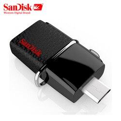 Original SanDisk USB OTG Pen Drive 130mb/s 3.0 Flash Drive 16GB External Storage Pendrive 32gb OTG 64GB Memory Usb stick 3.0