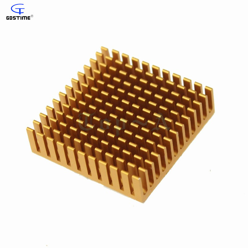 Gdstime 10 pcs/lot Aluminum Heatsink Cooling Fan Heat sink Radiator for LED Power Memory Chip IC Transistor 40X40X11MM synthetic graphite cooling film paste 300mm 300mm 0 025mm high thermal conductivity heat sink flat cpu phone led memory router