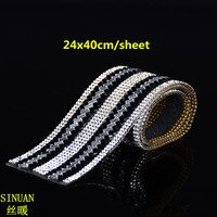 Factory Direct Sale 24x40cm Iron On Diamond Sheet Crystal Rhinestone Mesh 1pieces Lot Diy Trims Applique