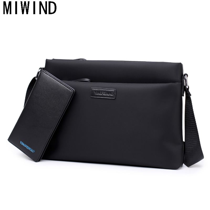 MIWIND Waterproof Brand Men Messenger Bags High Quality Oxford Casual Crossbody Bag Business Men's Travel Bags TYF1208 flash sale 2017 bld brand men casual messenger bag high quality canvas shoulder bags for men business travel crossbody bag
