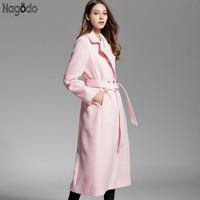 Womens Autumn Wool Coat Pink Bester Preis