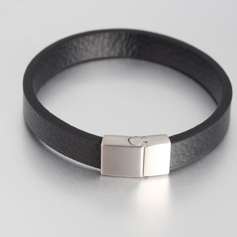 Genuine Braided Leather Bracelet for Men Women Stainless Steel Magnetic Buckle Charm Cuff Bangle Gift Men Jewelry