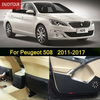 Car Pads Front Rear Door Seat Anti Kick Mat Car Styling Accessories For Peugeot 508 2011
