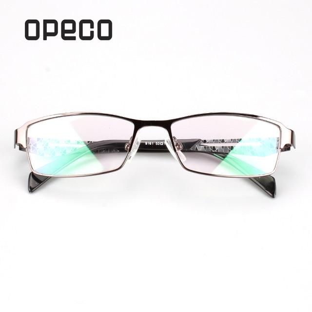 dde057cbcf Opeco Metal men s eyeglasses including prescription Lenses RX eyewear frame  RX recipe male fashion spectacles 9161