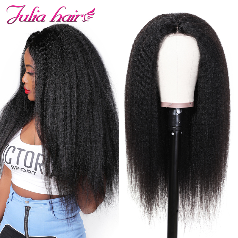 Ali Julia 13  4 13  6 Lace Front Human Hair Wigs For Women Afro Kinky Straight Brazilian Remy Hair Wig 130% 150% Density-in Human Hair Lace Wigs from Hair Extensions & Wigs    1