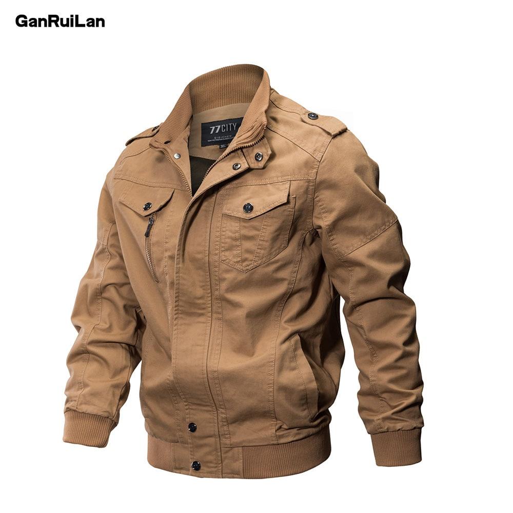 2019 New Military Jacket Men Winter Cotton Jacket Coat Army Men's Pilot Jackets Air Force Spring Cargo Large size 6XL JK18018