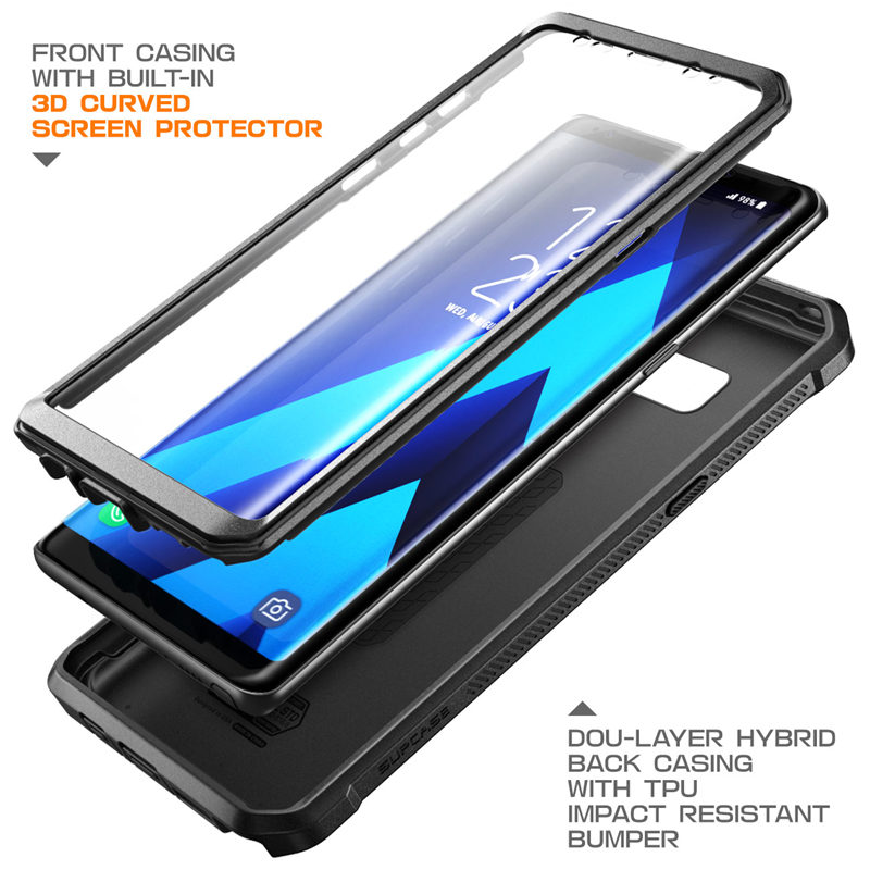reputable site 30832 e90ee US $15.99 20% OFF|For Samsung Galaxy Note 8 Case SUPCASE UB Pro Series Full  Body Rugged Holster Protective Cover with Built in Screen Protector-in ...