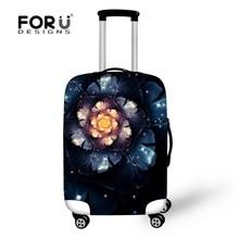 Vintage fleur couvre pour chariot valise élastique étanche bagages housse de protection pour 18 – 30 polegada voyage cas la poussière