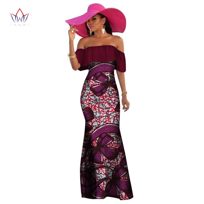 Aliexpress.com : Buy BRW 2017 African Wax Print Dashiki Dresses ...