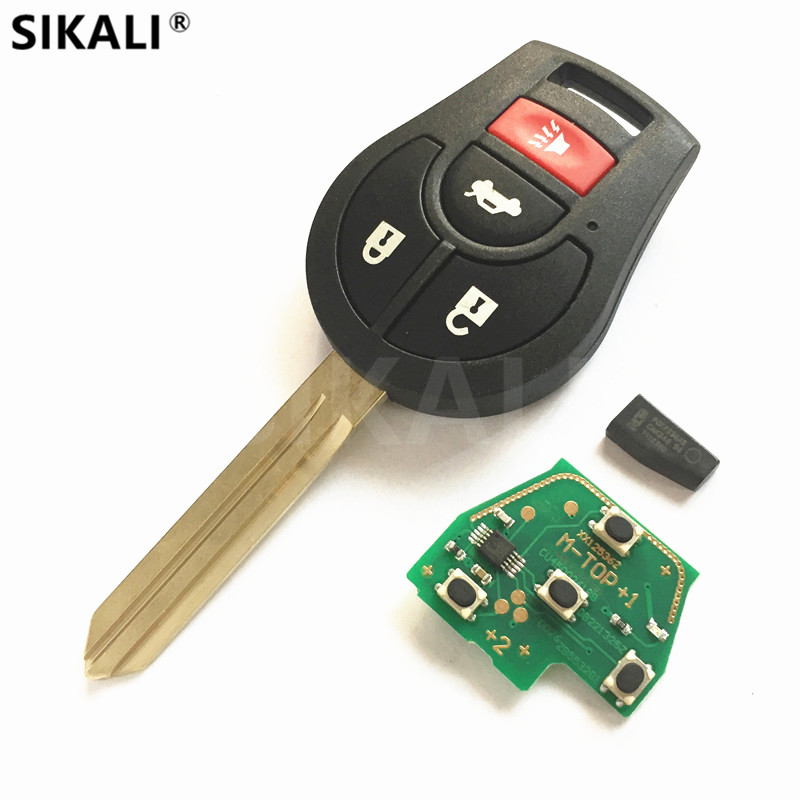 4 Buttons Remote Key 315MHz/433MHz for March Qashqai Sunny Sylphy Tiida Car Auto CMIIT ID CWTWB1U751 CWTWB1U816 CWTWB1U761