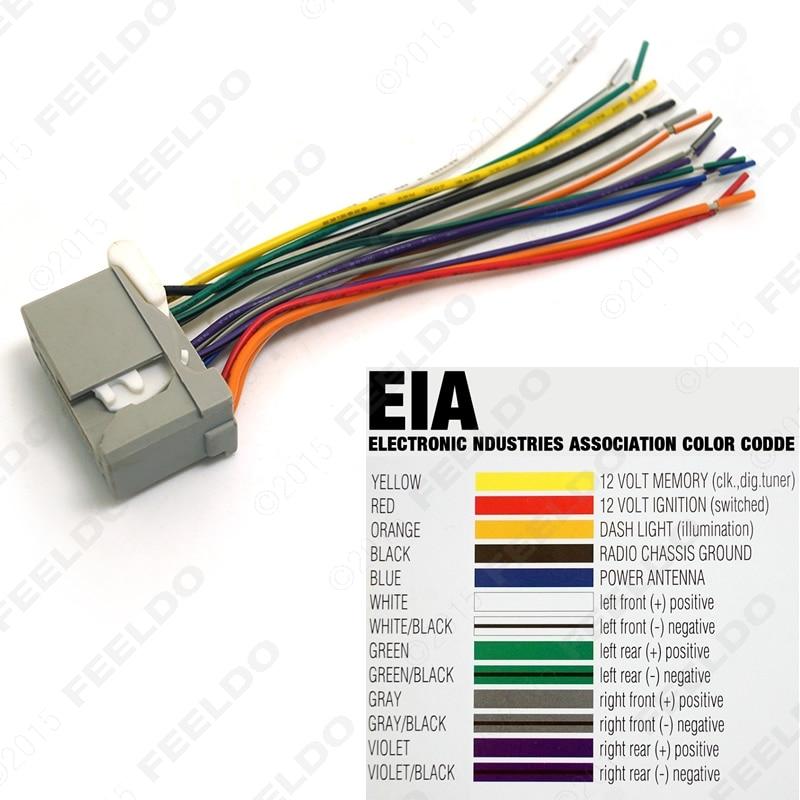 Car Audio Stereo Wiring Harness For HONDA AccordCrosstourCivicCRVFitOdysseyPilotRidgeline