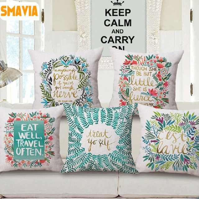100 polyester sofa throws bolia sofabord brugt smavia hot sale fashion contracted printed cushion cover 45 45cm pillowcase throw chair car 1pc