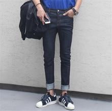 2015 New Denim Pants Pencil Pants Men's Jeans Slim Fit Straight Trousers Straight Leg Size:M-XXL