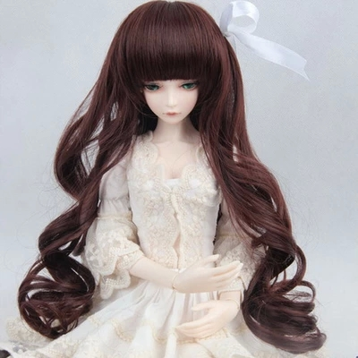 thick wave curls hair for dolls 1/3 1/4 1/6 BJD SD Doll Wigs wowhot 1 4 bjd sd doll wigs for dolls high temperature wires short straight bangs fashion wig 1 6 1 3 for dolls accessories toy