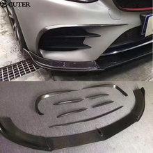 8pcs/set W213 Car body kit  Carbon Fiber Front Bumper Air Vent Decoration Modelling Trim for Mercedes Benz E300 13-16