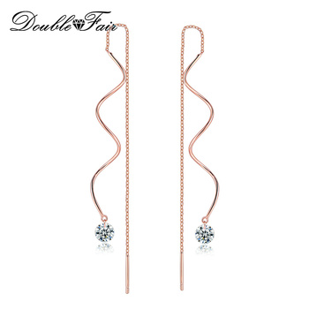 Double Fair Fashion Metal Bar Wave Dangle Earrings For Women Party Jewelry Rose Gold Color Long.jpg 350x350 - Double Fair Fashion Metal Bar Wave Dangle Earrings For Women Party Jewelry Rose Gold Color Long Tassel Earrings DFKC170