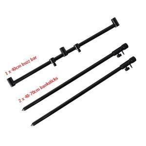 Image 2 - Hirisi new carp fishing rod pod set 2pcs fishing bank sticks with 1pcs fishing buzz bar black color