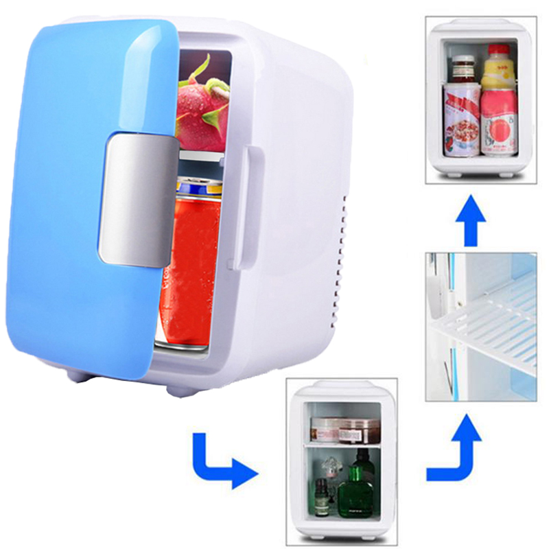 Hot sale Icebox 2018 new for Camping Driving Cooler Warm Use Car Fridge Freezer Travel Refrigerator 4L Mini ...