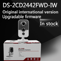 In Stock Free Shipping With DHL English Version DS 2CD2442FWD IW 4MP IR Cube Network Camera