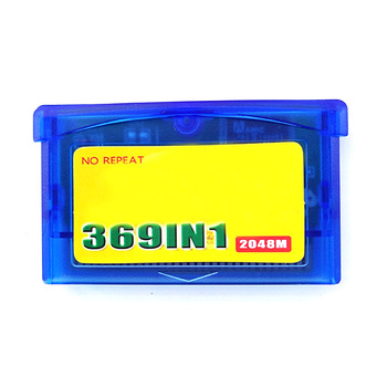 369 In1 Plastic Memory Video Cartridge Gifts Portable Computer Player Classic Home For Nintendo GBA Console Game Card