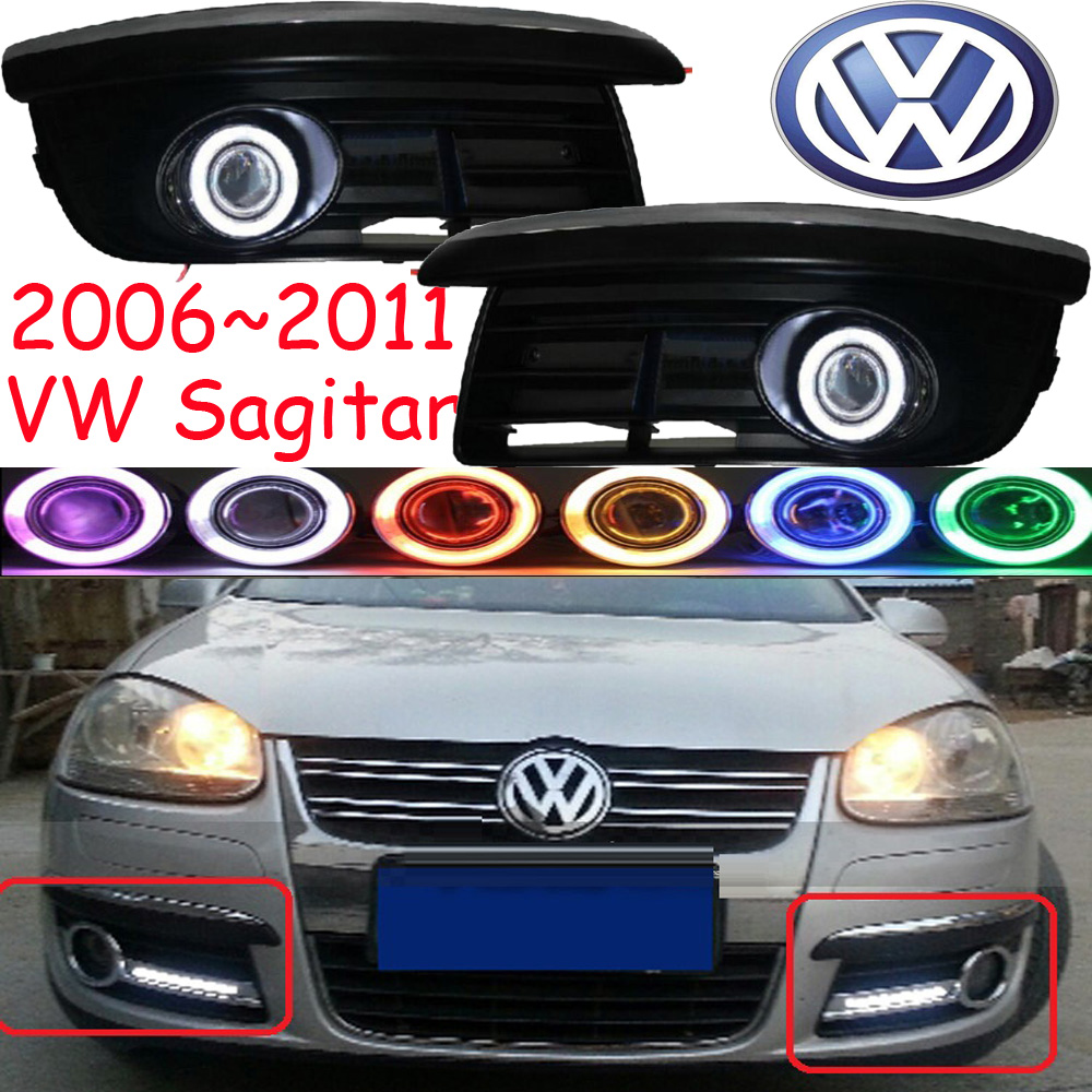 Car-styling,Sagitar fog lamp,2006~2011,chrome,Free ship!2pcs,Sagitar head light,car-covers,Halogen/HID+Ballast;Sagitar excellent 4pcs set chrome plated door handle covers car sticker for volkswagen vw sagitar car styling door handle chrome sticker