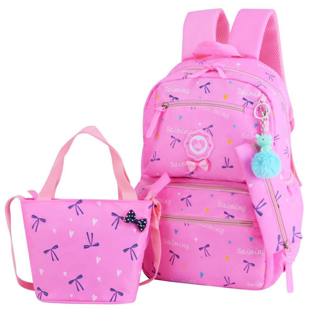 Детские школьные сумки для девочек-подростков с принтом Рюкзак Школьные рюкзаки 3 шт./компл. Mochila Дети Путешествия Рюкзак Симпатичные Сумка