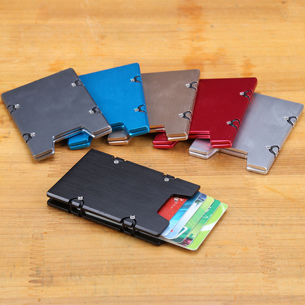 2018 Superior Quality Women Man ID Credit Card business Aluminum Alloy Protector Wallet Card Holder Package Box X# dropship