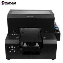 Domsem 2018 Mini A4 Digital Kaos Printer DTG Kaos T-shirt Pakaian Kain Kulit Kayu UV Pencetakan Inkjet Mesin(China)