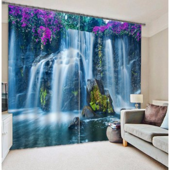 Waterfall Chinese Blackout 3D Curtains Drapes For Living room Bed room Hotel Office Home Wall Tapestry Decorative Cortinas