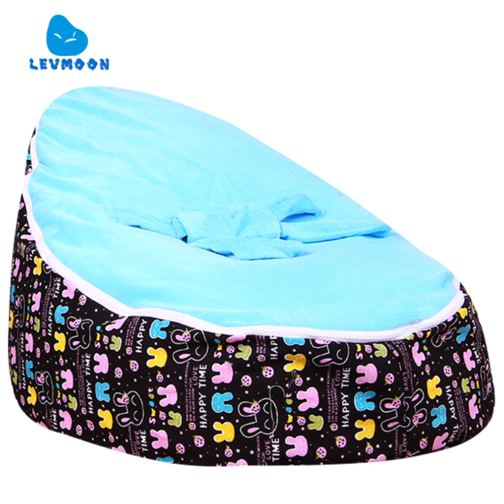 цена на Levmoon Medium Mashimaro Bean Bag Chair Kids Bed For Sleeping Portable Folding Child Seat Sofa Zac Without The Filler