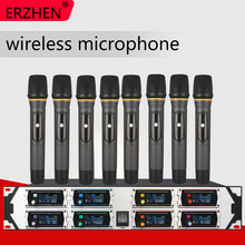 Wireless Microphone New U9000GTA2 UHF 8 Channel Fixed Frequency + Dynamic Screen + KTV + Professional Microphone все цены
