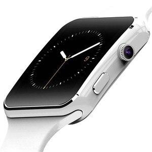 Image 3 - X6 Bluetooth inteligentny zegarek z kamerą dla mężczyzn kobiety bransoletka sportowa z ekranem dotykowym SIM TF Card opaska na telefon komórkowy