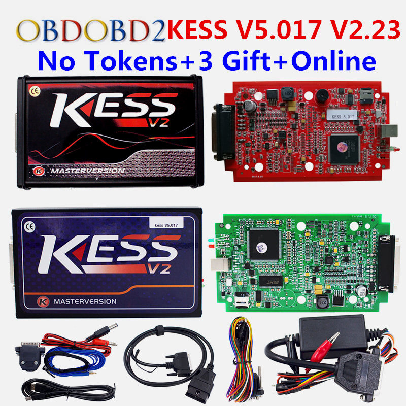 Online K TAG KTAG V7.020 No Tokens KESS 5.017 K-TAG 7.020 OBD2 Manager Tuning Kit KESS 5.017 Red PCB EU Master Version new version v2 13 ktag k tag firmware v6 070 ecu programming tool with unlimited token scanner for car diagnosis