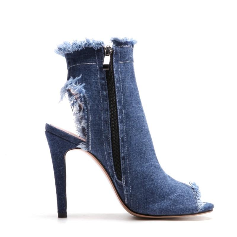 Stylesowner Stil Seite Toe Dünne Heels Blue Sandalen Zipper Peep Fersen Klassische Frau High Sommer Farbe Casual 2018 Neue Blau rwqT0fr