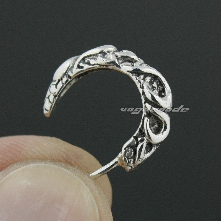 925 Sterling Silver Claw Mens Biker Rocker Earring 8M018(2 Pieces)