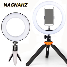 Led Selfie Ring Light 6/8/10 inch Dimmable 3200-5500K Ringlight Photography Lamp for Youtube Video Makeup Photo Studio Lighting samtian 2sets led video light with tripod dimmable 3200 5500k 600 leds panel lamp for studio photo photography lighting